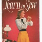 Learn To Sew S-21 Clark's Coats Vintage 1946 First Edition