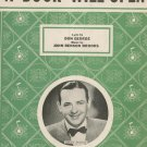 A Door Will Open by George & Brooks Sheet Music Vintage Jimmy Dorsey