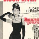 Vintage Moon River Sheet Music Audrey Hepburn Famous Music Breakfast At Tiffany's