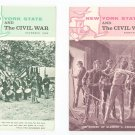 Lot of 2 New York State & The Civil War Vintage 1962 1963
