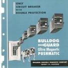 Vintage Bulldog Duo Guard Ultra Magnetic Pushmatic Circuit Breaker Catalog