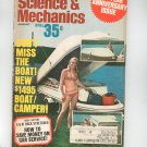 Science & Mechanics Magazine August 1970 Vintage New Boat Camper 40th Anniversary Issue