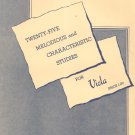 Twenty Five Melodious And Characteristic Studies For Viola B. Bruni Vintage Carl Fischer