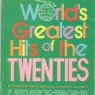 World's Greatest Hits Of The Twenties All Organ Hansen