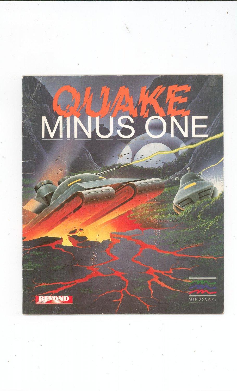 Quake Minus One Manual Not PDF Mindscape