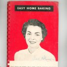 Easy Home Baking Cookbook by King Arthur Flour Vintage