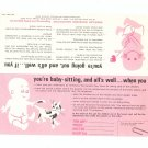 Lot Of 3 Vintage Baby Sitting Rules Cards American Insurance Association 1965