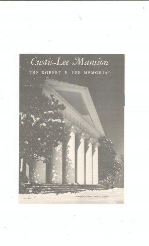 Vintage Custis Lee Mansion Robert E. Lee Memorial Travel Brochure 1962