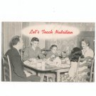 Vintage Let's Teach Nutrition Booklet by New York Education Department 1949