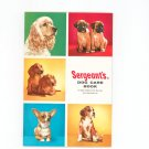 Vintage Sergeant's Dog Care Book Ready Reference