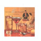 Vintage How To Make 46 Great Drinks At Home Recipe Booklet