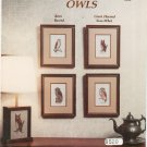 Owls Counted Cross Stitch Leaflet The Needlepoint Studio Barn Barred Saw-Whet Great Horned