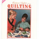 Barbara Taylor's Book On Quilting 34 Designs Beginners or Experts