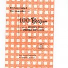 Century 100 Recipes For You New Automatic Skillet & Casserole Chafing Dish Cookbook