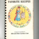 Vintage Favorite Recipes Hill And Dale Garden Club Cookbook Regional New York 1976