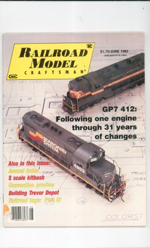 Railroad Model Craftsman Magazine June 1983  Not PDF Back Issue
