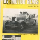 Antique Motor News Magazine January 1977 Vintage Back Issue 1929 Chevrolet Fire Wagon