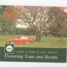 Vintage Shell Guide To Some Of East Africa's Flowering Trees & Shrubs Gas Oil