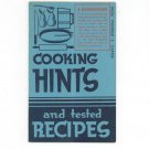 Cooking Hints & Tested Recipes Cookbook by Winifred S Carter Vintage Crisco