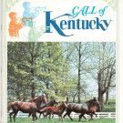 Vintage Call Of Kentucky Travel Guide With Fold Out Map