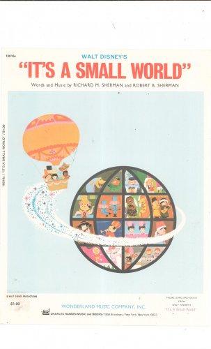 Walt Disney's It's A Small World Sheet Music Wonderland Music Sherman