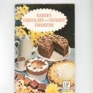 Baker's Chocolate And Coconut Favorites Cookbook Vintage 1965