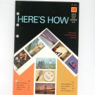 Kodak Here's How AE-81 Vintage 1974