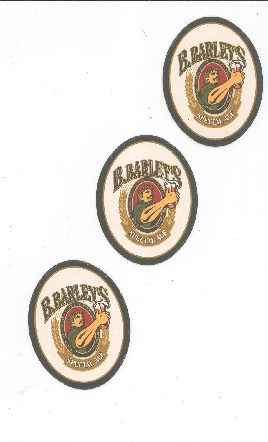 Lot Of 3 B. Barley's Special Ale Beer Coaster Mat