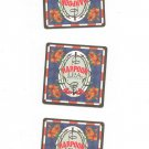 Lot Of 3 Harpoon India Pale Ale Beer Coaster Mat I.P.A.  Boston