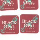 Lot Of 4 Black Opal Wines Coaster Mat The Australian Heritage