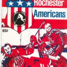 Vintage Rochester Americans Program American Hockey League AHL 1974