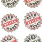 Lot Of 6 Beer Works Boston Brewery Eatery Beer Coaster Mat