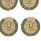 Lot Of 4 Rolling Rock Beer Coaster Mat Ringers