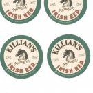 Lot Of 4 Killian's Irish Red  Coaster Mat Raise A Glass To Your Friends