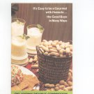 It's Easy To Be A Gourmet With Peanuts Cookbook Oklahoma Peanut Commission