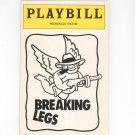 Playbill Breaking Legs Promenade Theatre Souvenir Program 1992