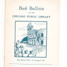 Book Bulletin Of The Chicago Public Library April 1957 The Book's Way To Europe's Art