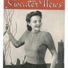 Vintage Sweater News Book 139 Chadwick's Red Heart Wools 1939