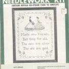 Vintage Bucilla New Friends Old Friends Sampler Kit 2543 All Linen Cross Stitch In Package