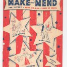 Vintage Make And Mend For Victory Book S 10 Alterations Make Over Accessories