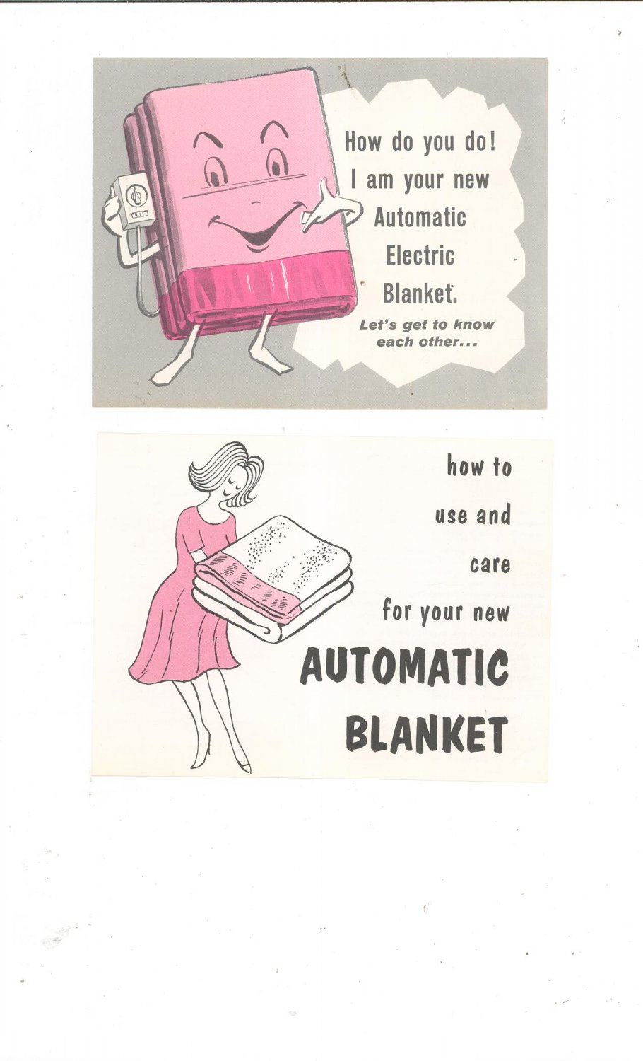 Vintage Automatic Electric Blanket User Manual / Pamphlets