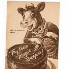 Vintage Elsie The Borden Cow Suggests Try These Magic Recipes Eagle Brand Milk 1940