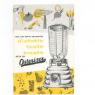 Serve Delightful Dietetic Taste Treats With An Osterizer Cookbook Vintage 1960