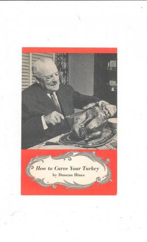 Vintage How To Carve Your Turkey by Duncan Hines Advertising Gulf Gas