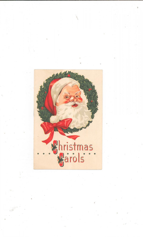 Vintage Christmas Carols Book / Pamphlet Rochester Savings Bank 1953