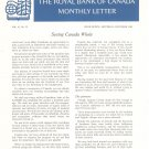Vintage The Royal Bank Of Canada Monthly Letter 1966 Lot Of 11