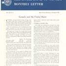 Vintage The Royal Bank Of Canada Monthly Letter 1958 Lot Of 11