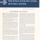Vintage The Royal Bank Of Canada Monthly Letter 1956 Lot Of 11