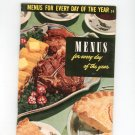 Menus For Every Day Of The Year #24 Reference / Guide Vintage 1954  Culinary Arts Institute