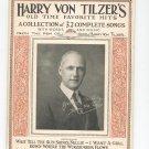 Vintage Harry Von Tilzer's Old Time Favorite Hits Words & Music